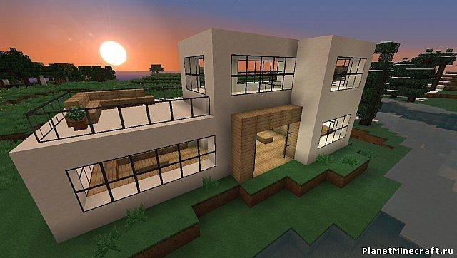 как построить модерн дома в майнкрафте 1.5.2 видео #3