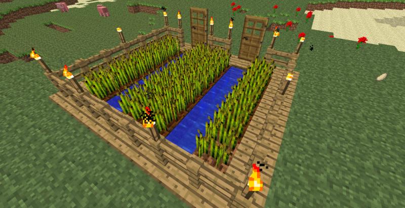 Как сделать большую ферму в майнкрафте